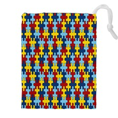 Fuzzle Red Blue Yellow Colorful Drawstring Pouches (xxl) by Mariart