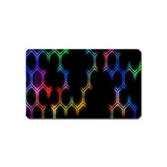 Grid Light Colorful Bright Ultra Magnet (name Card) by Mariart