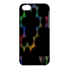 Grid Light Colorful Bright Ultra Apple Iphone 5c Hardshell Case by Mariart