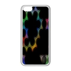 Grid Light Colorful Bright Ultra Apple Iphone 5c Seamless Case (white) by Mariart