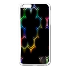 Grid Light Colorful Bright Ultra Apple Iphone 6 Plus/6s Plus Enamel White Case by Mariart