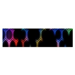 Grid Light Colorful Bright Ultra Satin Scarf (oblong) by Mariart