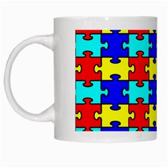Game Puzzle White Mugs by Mariart