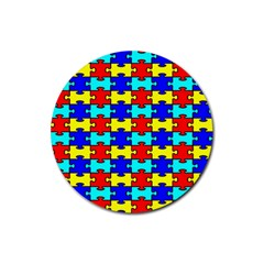Game Puzzle Rubber Coaster (round)  by Mariart
