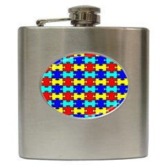 Game Puzzle Hip Flask (6 Oz) by Mariart