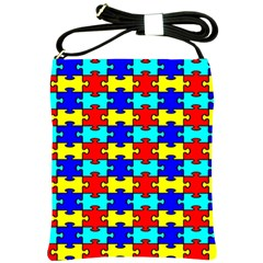 Game Puzzle Shoulder Sling Bags by Mariart