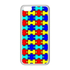 Game Puzzle Apple Iphone 5c Seamless Case (white) by Mariart