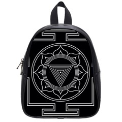 Kali Yantra Inverted School Bag (small) by Mariart