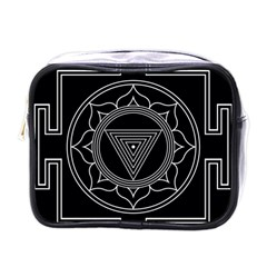 Kali Yantra Inverted Mini Toiletries Bags by Mariart