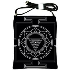 Kali Yantra Inverted Shoulder Sling Bags by Mariart