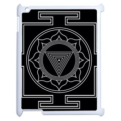 Kali Yantra Inverted Apple Ipad 2 Case (white) by Mariart