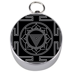 Kali Yantra Inverted Silver Compasses by Mariart