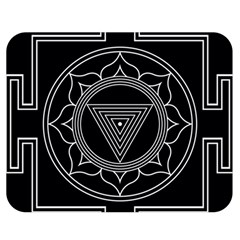 Kali Yantra Inverted Double Sided Flano Blanket (medium)  by Mariart
