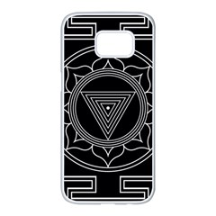 Kali Yantra Inverted Samsung Galaxy S7 Edge White Seamless Case by Mariart