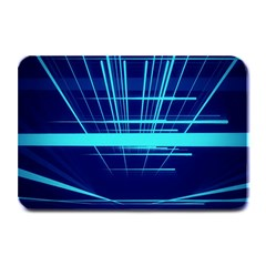 Grid Structure Blue Line Plate Mats by Mariart