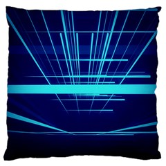 Grid Structure Blue Line Large Cushion Case (two Sides) by Mariart