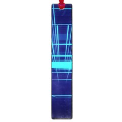 Grid Structure Blue Line Large Book Marks by Mariart