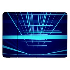 Grid Structure Blue Line Samsung Galaxy Tab 8 9  P7300 Flip Case by Mariart