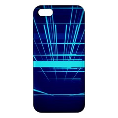 Grid Structure Blue Line Iphone 5s/ Se Premium Hardshell Case by Mariart