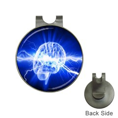 Lightning Brain Blue Hat Clips With Golf Markers by Mariart
