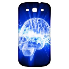 Lightning Brain Blue Samsung Galaxy S3 S Iii Classic Hardshell Back Case by Mariart