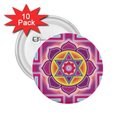 Kali Yantra Inverted Rainbow 2 25  Buttons (10 Pack)  by Mariart