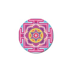 Kali Yantra Inverted Rainbow Golf Ball Marker by Mariart