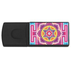 Kali Yantra Inverted Rainbow Rectangular Usb Flash Drive by Mariart