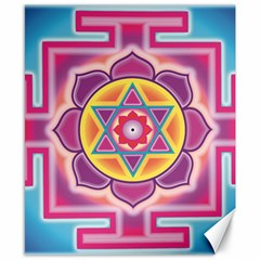 Kali Yantra Inverted Rainbow Canvas 8  X 10  by Mariart