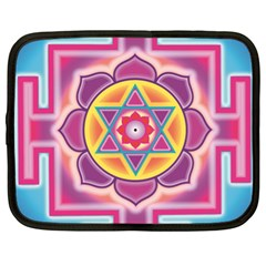 Kali Yantra Inverted Rainbow Netbook Case (xl)  by Mariart