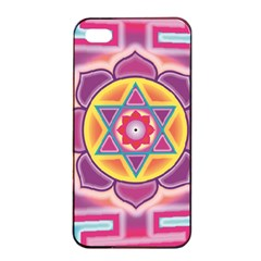 Kali Yantra Inverted Rainbow Apple Iphone 4/4s Seamless Case (black) by Mariart