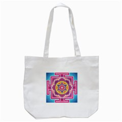 Kali Yantra Inverted Rainbow Tote Bag (white) by Mariart
