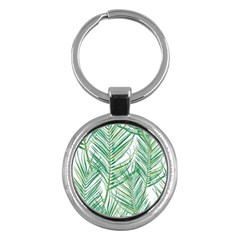 Jungle Fever Green Leaves Key Chains (round)  by Mariart