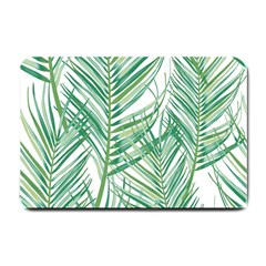 Jungle Fever Green Leaves Small Doormat  by Mariart