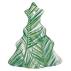 Jungle Fever Green Leaves Christmas Tree Ornament (two Sides) by Mariart