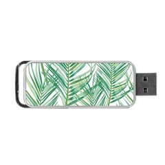 Jungle Fever Green Leaves Portable Usb Flash (one Side) by Mariart
