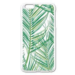 Jungle Fever Green Leaves Apple Iphone 6 Plus/6s Plus Enamel White Case by Mariart