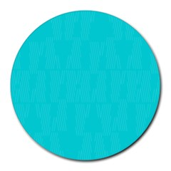 Line Blue Round Mousepads by Mariart