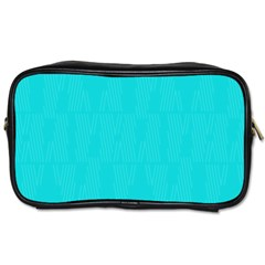 Line Blue Toiletries Bags by Mariart