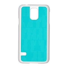 Line Blue Samsung Galaxy S5 Case (white) by Mariart