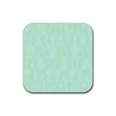 Line Blue Chevron Rubber Square Coaster (4 Pack)  by Mariart