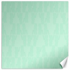 Line Blue Chevron Canvas 12  X 12   by Mariart
