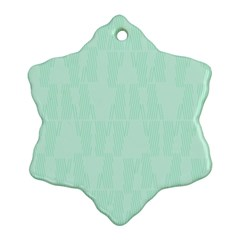Line Blue Chevron Ornament (snowflake) by Mariart