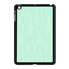 Line Blue Chevron Apple Ipad Mini Case (black) by Mariart