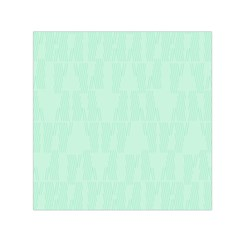 Line Blue Chevron Small Satin Scarf (square) by Mariart