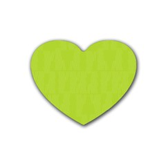 Line Green Rubber Coaster (heart)  by Mariart