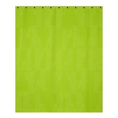 Line Green Shower Curtain 60  X 72  (medium)  by Mariart