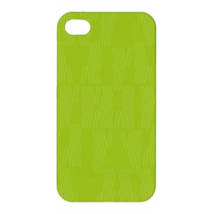 Line Green Apple Iphone 4/4s Premium Hardshell Case by Mariart