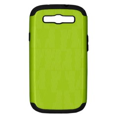 Line Green Samsung Galaxy S Iii Hardshell Case (pc+silicone) by Mariart