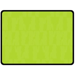 Line Green Double Sided Fleece Blanket (large)  by Mariart